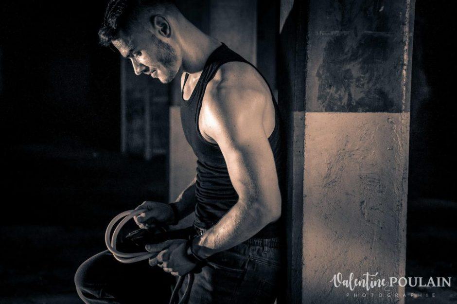 Shooting fitness portrait - Valentine Poulain