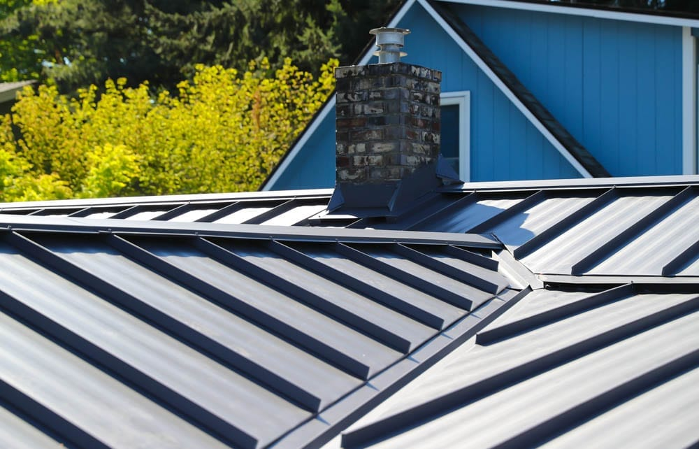 Standing seam metal roofing installed by valentine roofing in seattle washington
