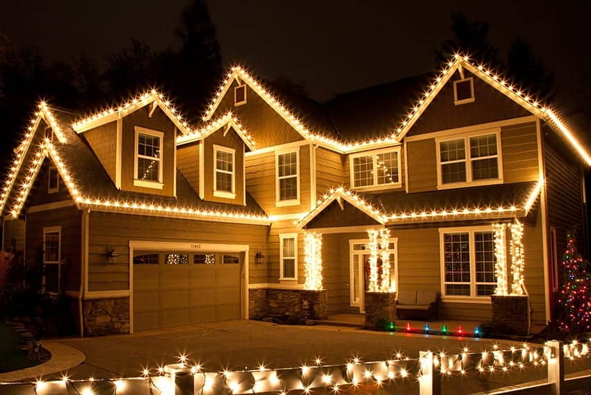 christmas lights installation by valentine roofing