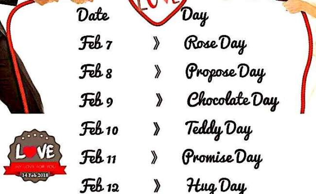Valentine Week 2020 List Happy Valentine S Day 2020