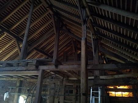 Rénovation d'une grange. Toiture