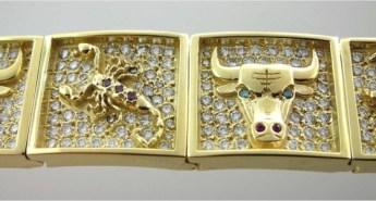 Valenzya Diamond and Gold Bracelet