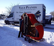 Piano Delivery in the snow