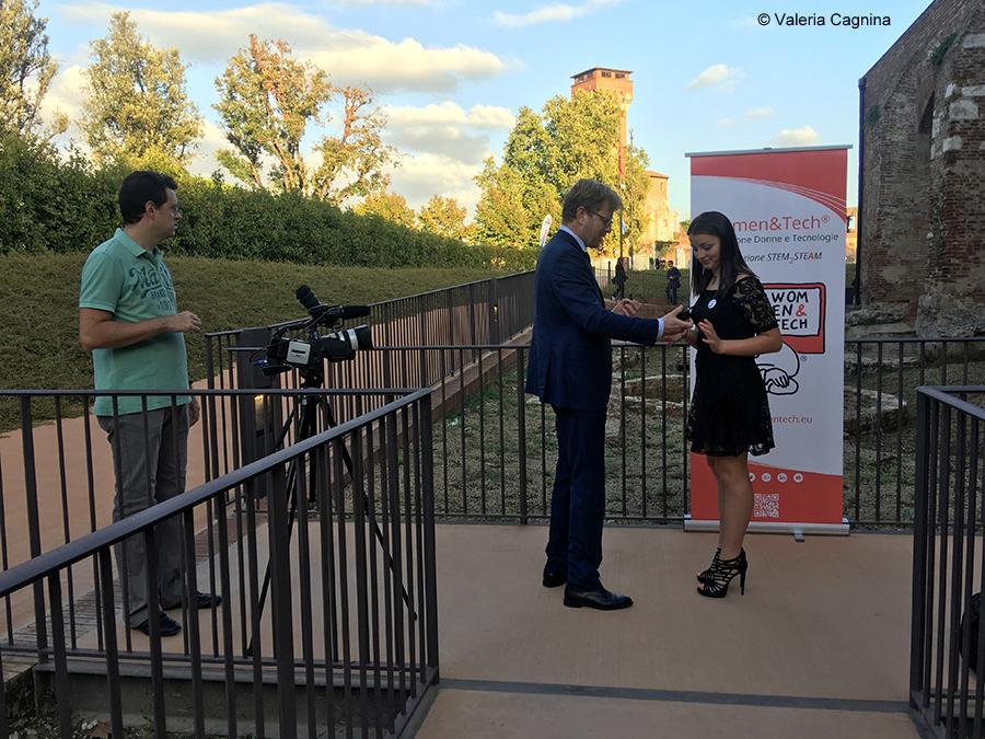Premio al Festival Internazionale della Robotica di Pisa come Tecnovisionaria Valeria Cagnina