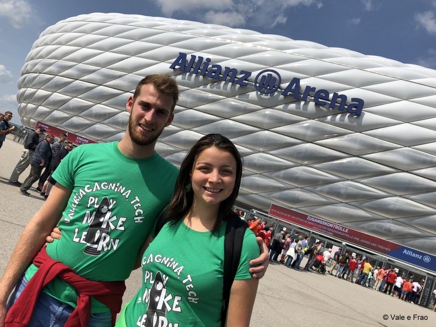 valeria cagnina e francesco baldassarre eventi e fiere laboratori allianz arena monaco germania