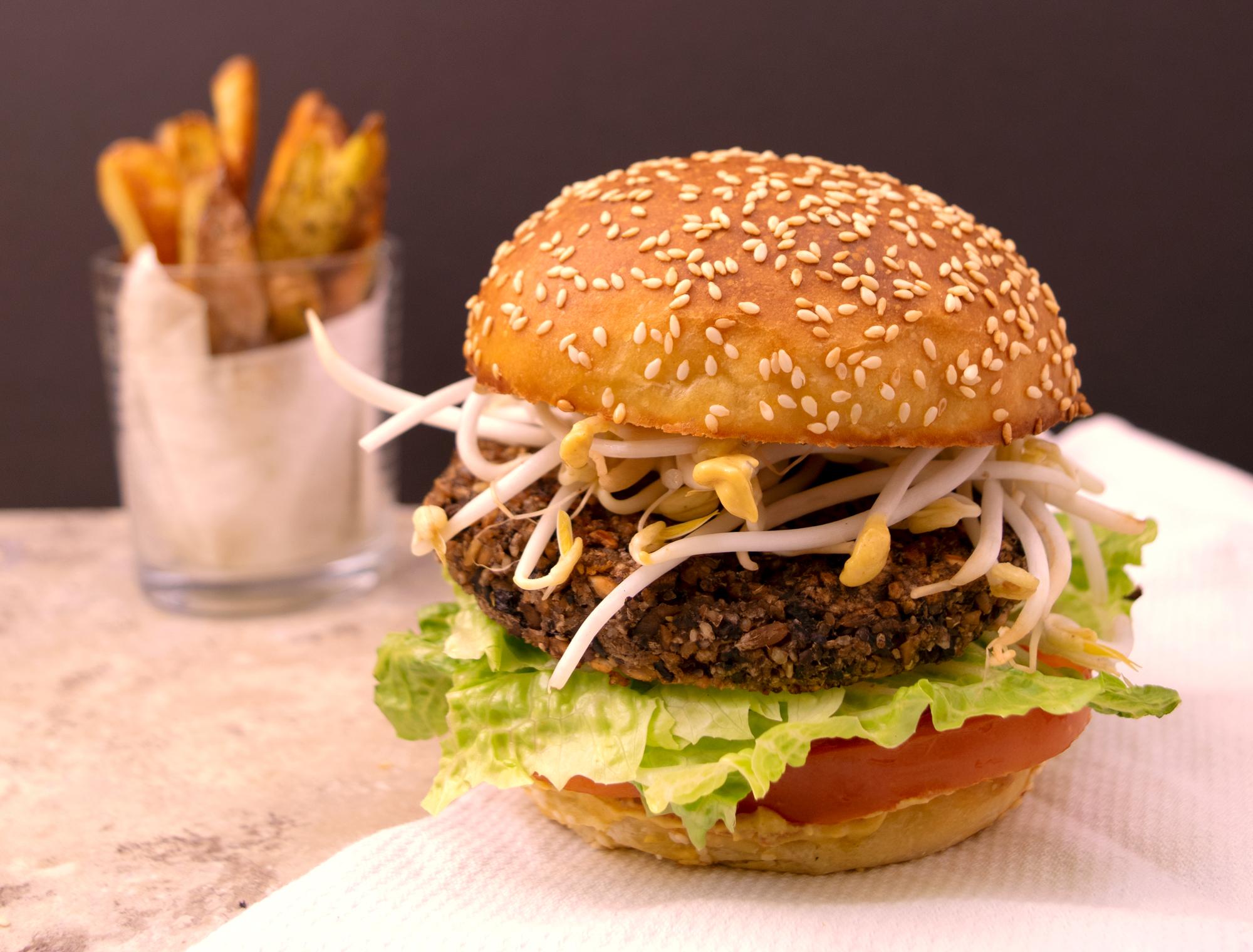 Mushroom Farro Burger