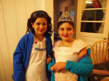 Flo from Progressive and the Princess