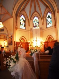 The church was so pretty this afternoon