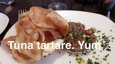 the tuna tartare with chips is my fav dish