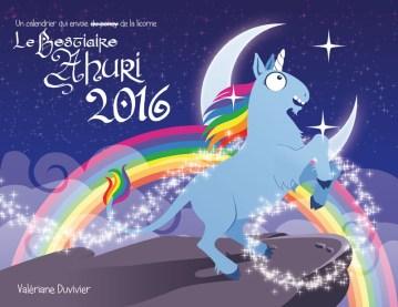 Couverture du calendrier du Bestiaire Ahuri 2016