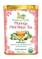 MORINGA MINT RELAX TEA FROM ORGANIC VEDA 28 TEA BAGS