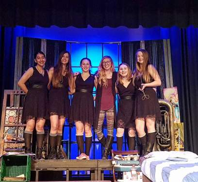 With the Cast of Unwritten - St.Catharines Collegiate entry to the Sears Drama Festival 2017. Written and directed by Brenna McAllister. I was one of the choreographers for this play.