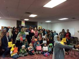 World Hijab Day! My dance students made cards/letters and I delivered them.
