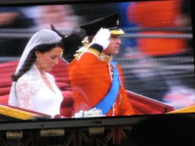 William and Kate's ride through the street in true fairy tale style