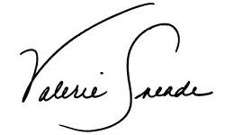 Valerie Sneade signature logo