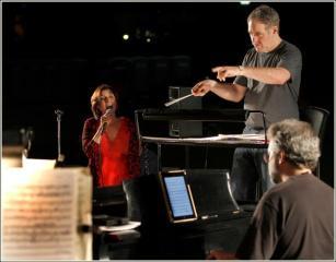 Larry Blank conducting our Hamlisch Concert