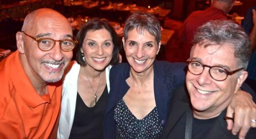 Fellow Evita cast members Sal Mistretta, Loni Ackerman and Wayne Scherzer