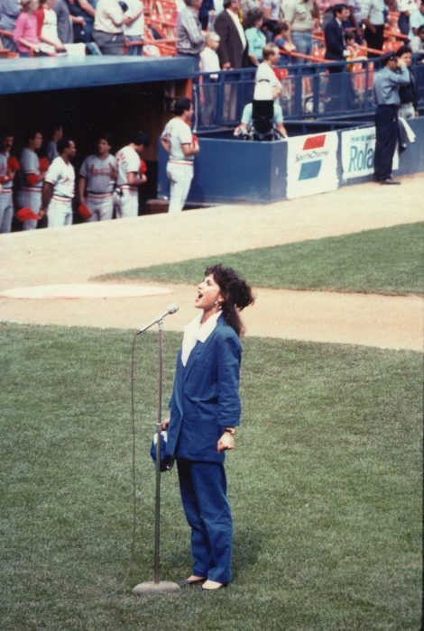 Singing the National Anthem at Shea Stadium for the METS