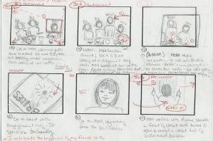 a storyboard from the short film The Maid of Honor