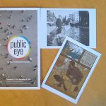 NYPL Public Eye photography brochure with postcards