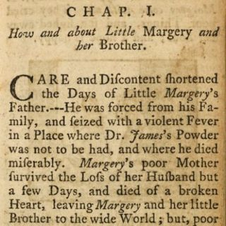 First Page of John Newbery's Goody Two-Shoes 1765? book