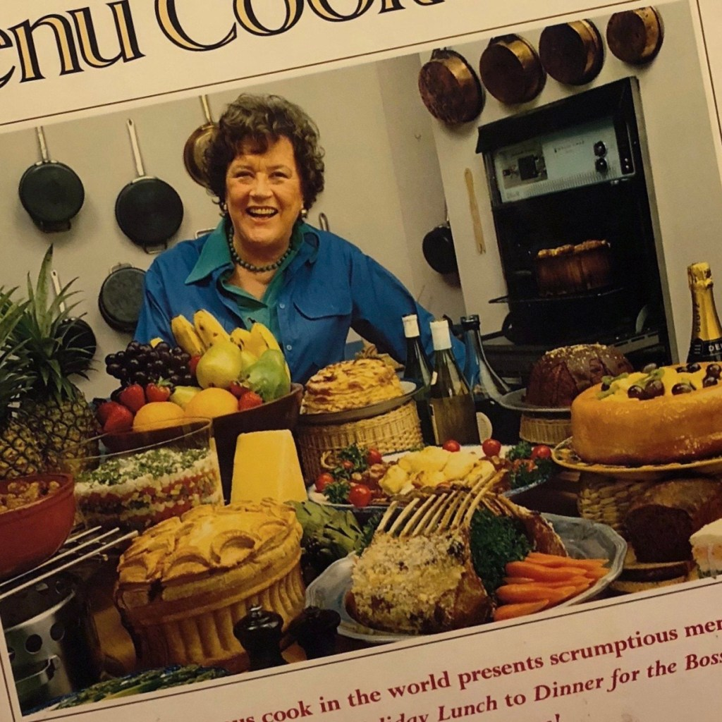 Julia Child on cover of Menu Cookbook