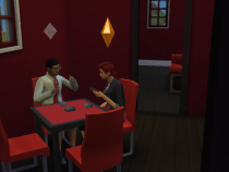 Ashton and Walker Playing Cards on a Home Date