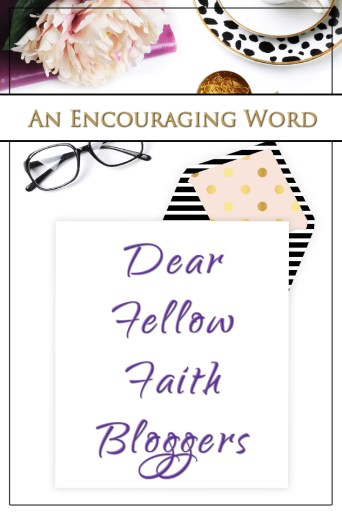 An open letter to faith bloggers