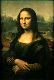 Mona Lisa by Da Vinci (She's smaller because she IS small.)