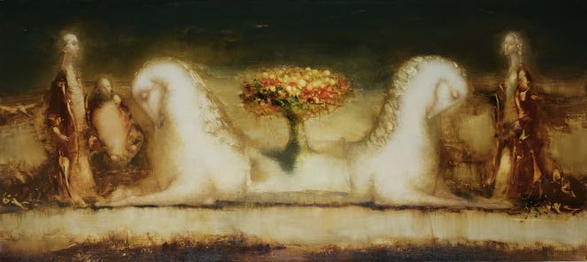 """Dreamland"" 26 in x 58 in Oil on Belgian linen"