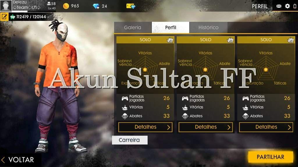 Dapatkan Akun Sultan FF Gratis Terbaru 2021 Dengan Mudah
