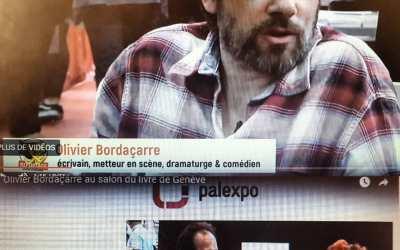 Interview Olivier Bordaçarre au Salon du Livre de Genève