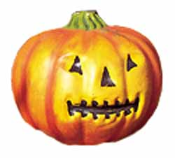 pumpkin with face on