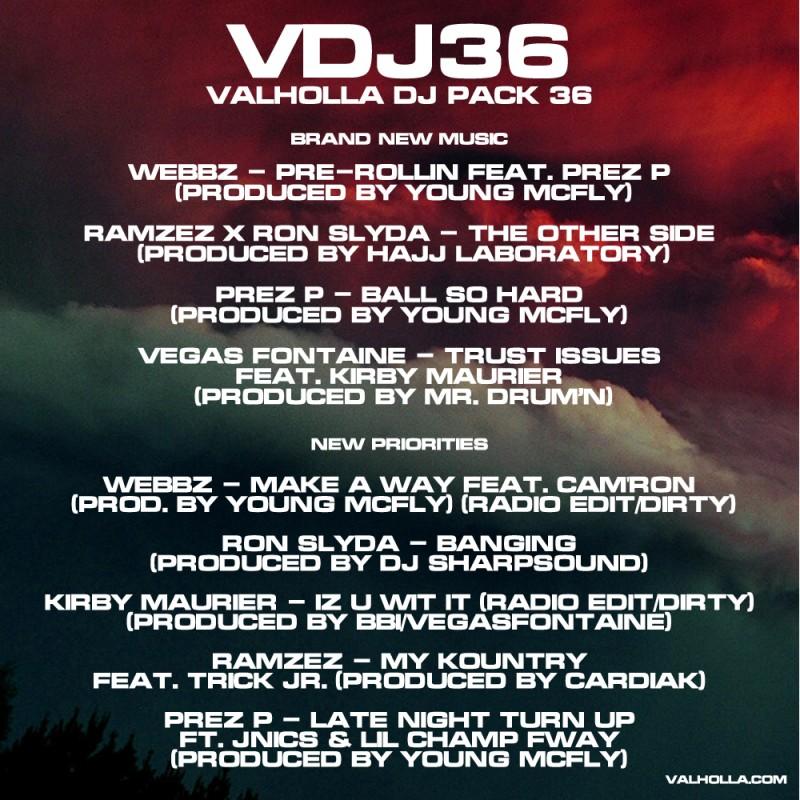 Valholla-DJ-Pack-36-Tracklisting