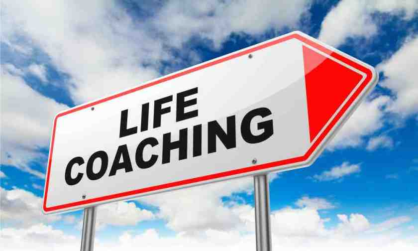 "A road sign that says ""life coaching"""