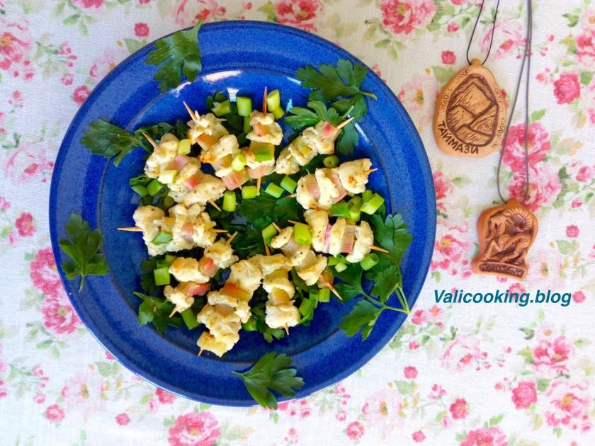 Chicken Shashlik with Rhubarb Recipe