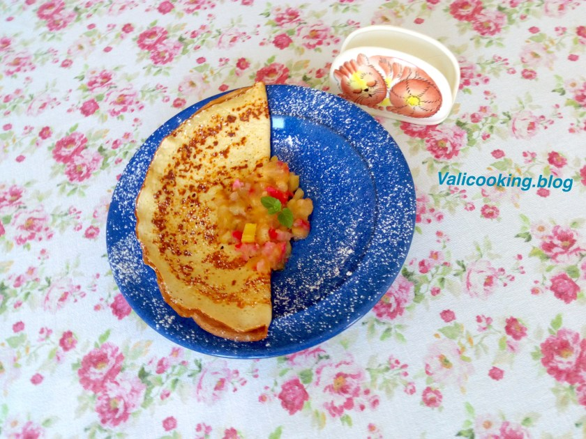 Pancakes with Rhubarb compote