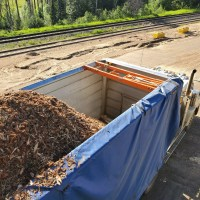 Valid Manufacturing Auto Tarp for wood chip trailer