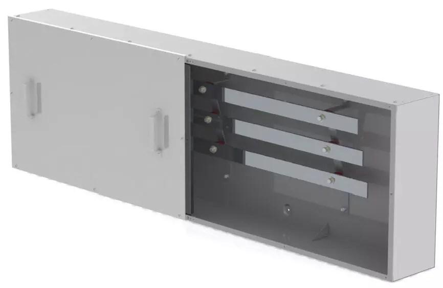 Type 4X Continuous Bus Splitter Trough, 3 bar.