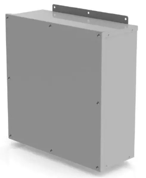 Weatherproof Commerical Enclosure on white background.