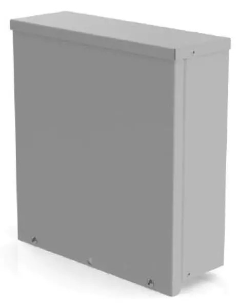 Weatherproof Slide-on Cover Enclosure on white background.