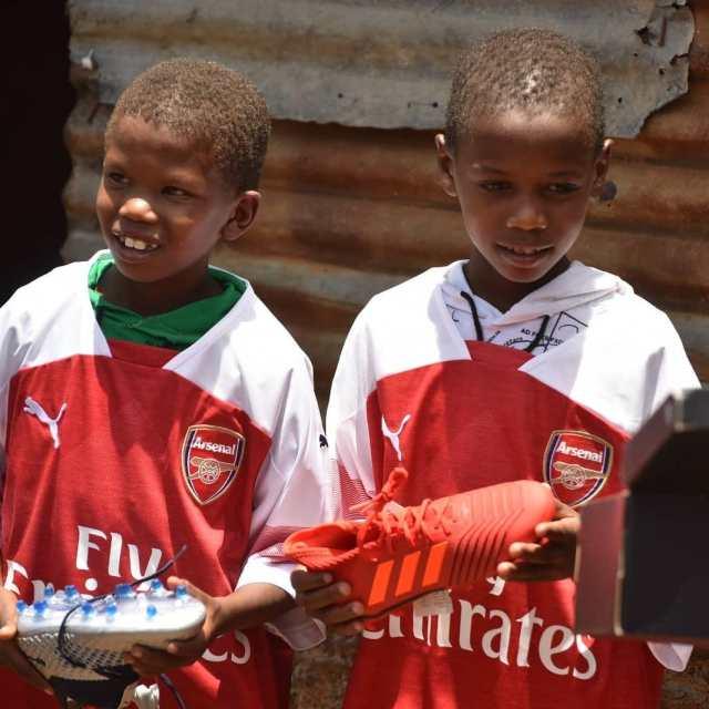 (GIST): Young Kenyan Boy Got Surprises From Ozil
