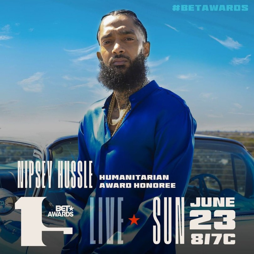Nipsey Hussle To be Honoured With Humanitarian Award At BETAwards