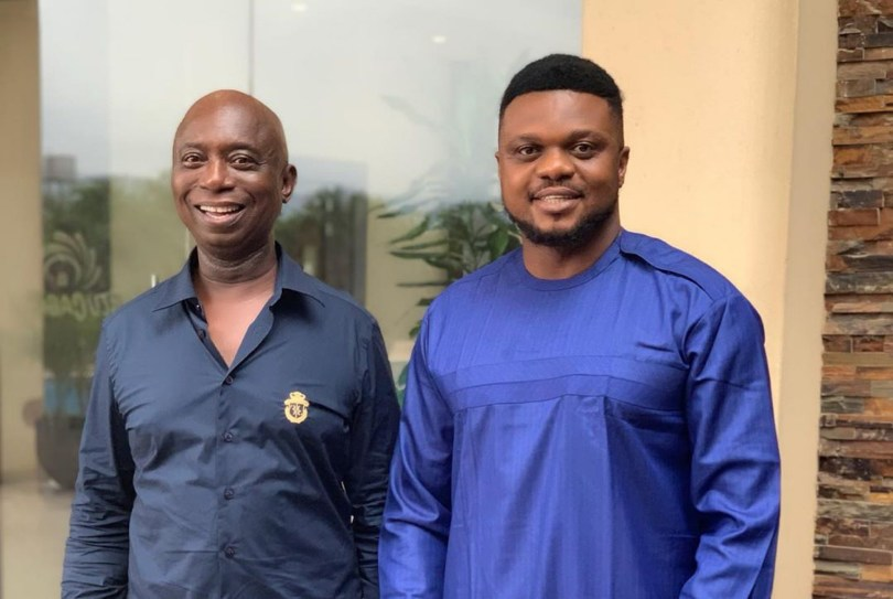 Regina Daniels Husband In A Meeting With Ken Erics