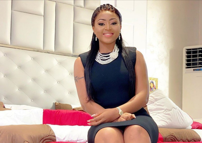 Regina Daniels Shares Some Cute Photos Of Her On Set