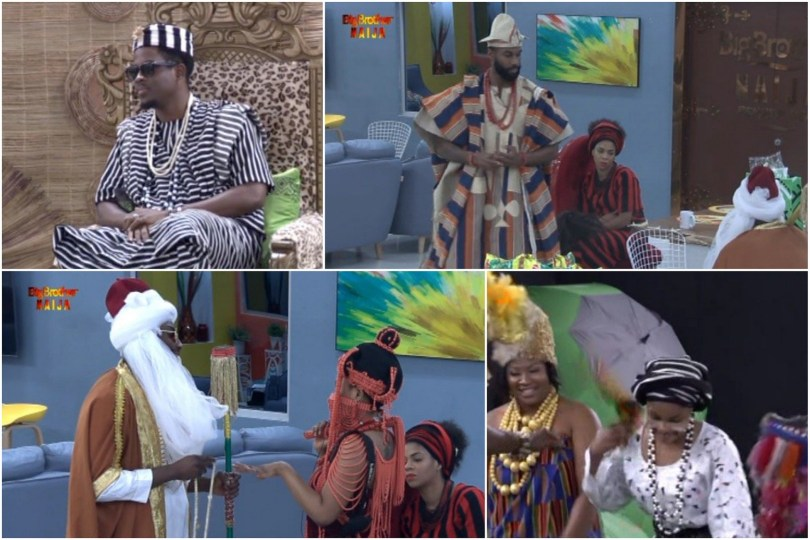 BBNaija 2019: Housemates displayed the Tor Tiv coronation in their cultural attires