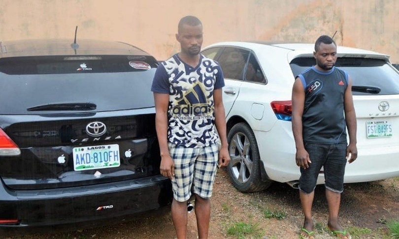 EFCC recovers expensive items from two yahoo-boys arrested in Ibadan