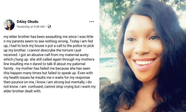 I want my elder brother dealt with – Nigerian lady calls Police to arrest her brother