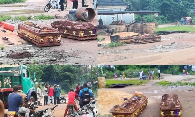 Land Dispute: Family digs out two corpses 3 weeks after burial