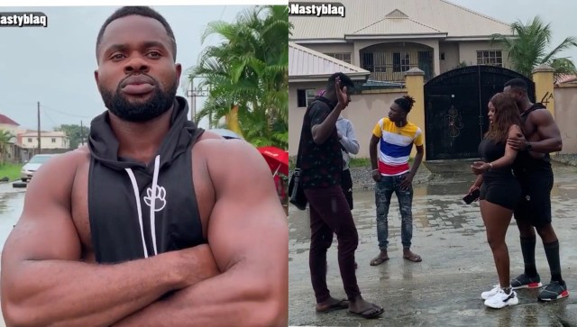 Nigerians on BBNaija Kemen's neck for taking sexual harassment role in a comedy skit